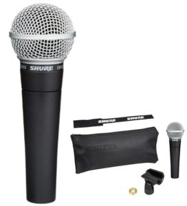 Fotografía Micrófonos cardioides vocal Shure SM-58