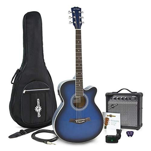 Set de Guitarra Electroacústica con Cutaway + Amplificador de 15 W Blue